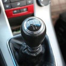 MT pomo de cambio de cabeza de engranaje de coche, ajuste de bola de mano para Chevrolet Cruze Chevy 2008-2013 accesorios de piezas de coche 5 6 velocidades