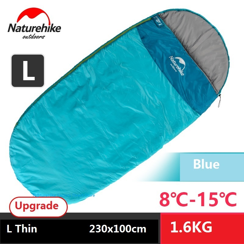 Naturehike adult 4 seasons spring, summer, fall and winter outdoor camping indoor thicken warm portable single sleeping bag цена 2017
