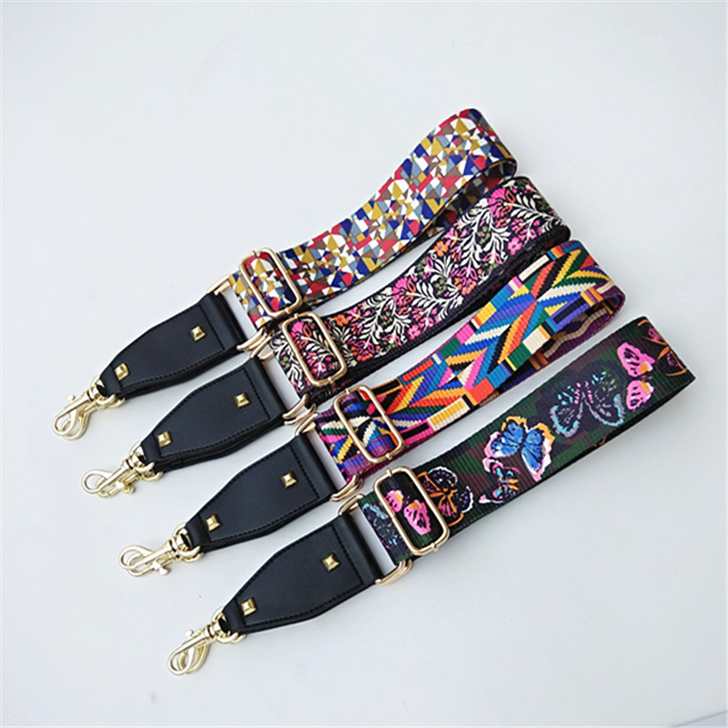HJKL Fashion Colorful ShoulderStrap Nylon Belt Bags Strap Accessories For Women Messenger Crossbody Bags Handle Ornament Gift