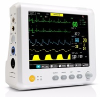 High Quality CE Authorised Ambulance Multi parameter ICU Patient Monitor (NIBP,ECG,RESP,SPO2,TEMP)