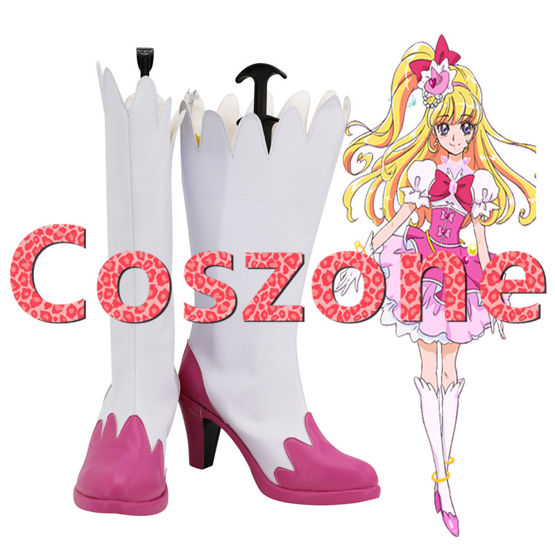 Maho Girls Precure! Asahina Mirai Cosplay Shoes Boots Cure Miracle Halloween Cosplay Costume Accessories