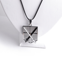Attack on Titan Metal LOGO Rope Chain Pendant Necklace