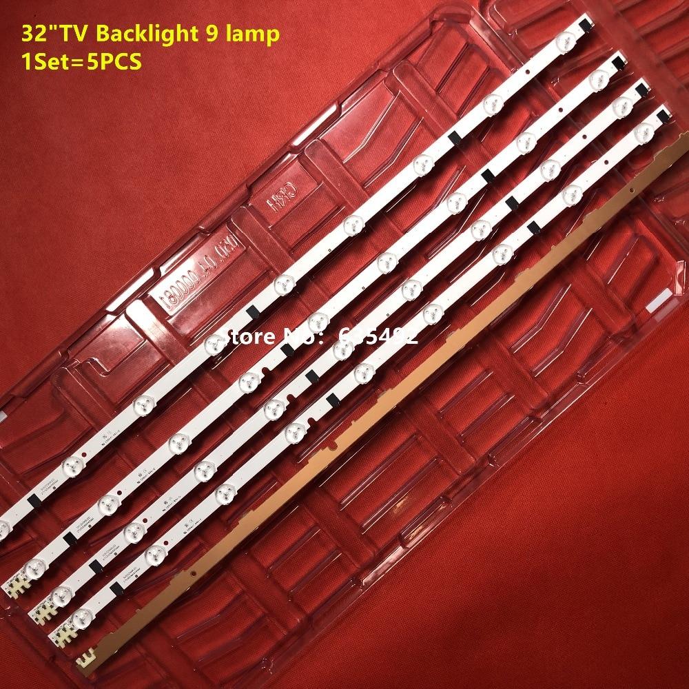 Image 3 - 5pcs LED Backlight strip 9lamp 2013SVS32H D2GE 320SC0 R3 For UE32F6100AK UA32F5000AR UE32F5000AS CY HF320AGEV5H CY HF320AGEV4H-in LED Bar Lights from Lights & Lighting