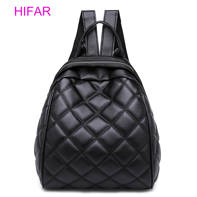dad11514d9 2018 Lingge Backpack Women PU Leather Bag Female Small Backpacks Back Pack  Ladies School Bags for