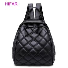 купить 2018 Lingge Backpack Women PU Leather Bag Female Small Backpacks Back Pack Ladies School Bags for Teenagers Girls Headphone Port по цене 1035.59 рублей