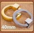 Color plata/Color de Oro Solo Agujero Anillo tirones del cajón perilla de la manija de aleación de Zinc manija de los Muebles de Cocina