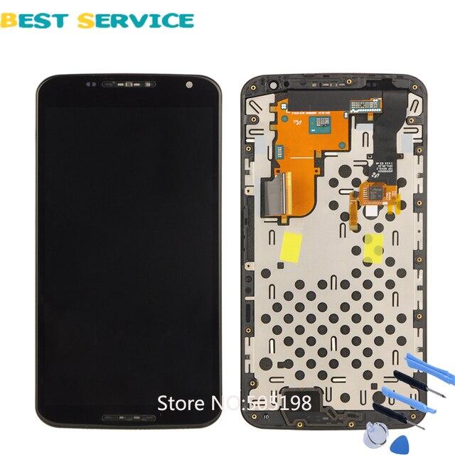 100% ทดสอบ LCD สำหรับ Nexus 6 หน้าจอสำหรับ Motorola Moto Nexus 6 XT1100 XT1103 จอแสดงผล LCD กรอบ digitizer ASSEMBLY