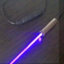 Высокомощный Лазерный Гравировальный 405нм фиолетовый лазерный модуль 250 мВт/сжигание, быстрое освещение