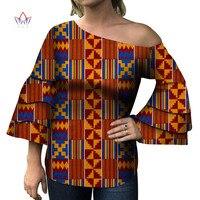 2019 Dashiki Women African Clothes Print For Women Bazin Africa Style Top Lady Clothes Dashiki Print Shirt Women Clothing 4362