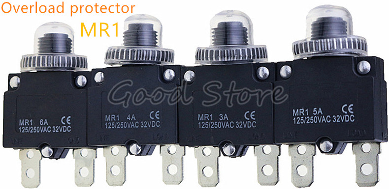 Push To Reset 4A 10A 15A 20A Panel Mount Resettable Circuit Breaker
