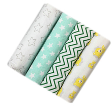 4pcs Baby Boys Girls Crib Sheets Cotton Newborn Swaddle Infant Bed Sheet Toddler Blankets Kids Bedsheet Children Bedding Sets