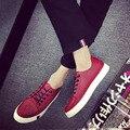 2016 Caliente de La Manera de Hip Hop Zapatos Casuales Para Hombre de Lujo Marca Planos de Los Hombres Zapatos de Cuero de Cocodrilo Rojo Transpirable Zapatillas Superstar