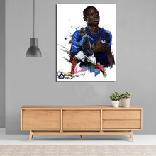 Soccer Player NGolo Kante Illustration Canvas Painting Print Living Room Home Decoration Artwork Modern Wall Art Oil