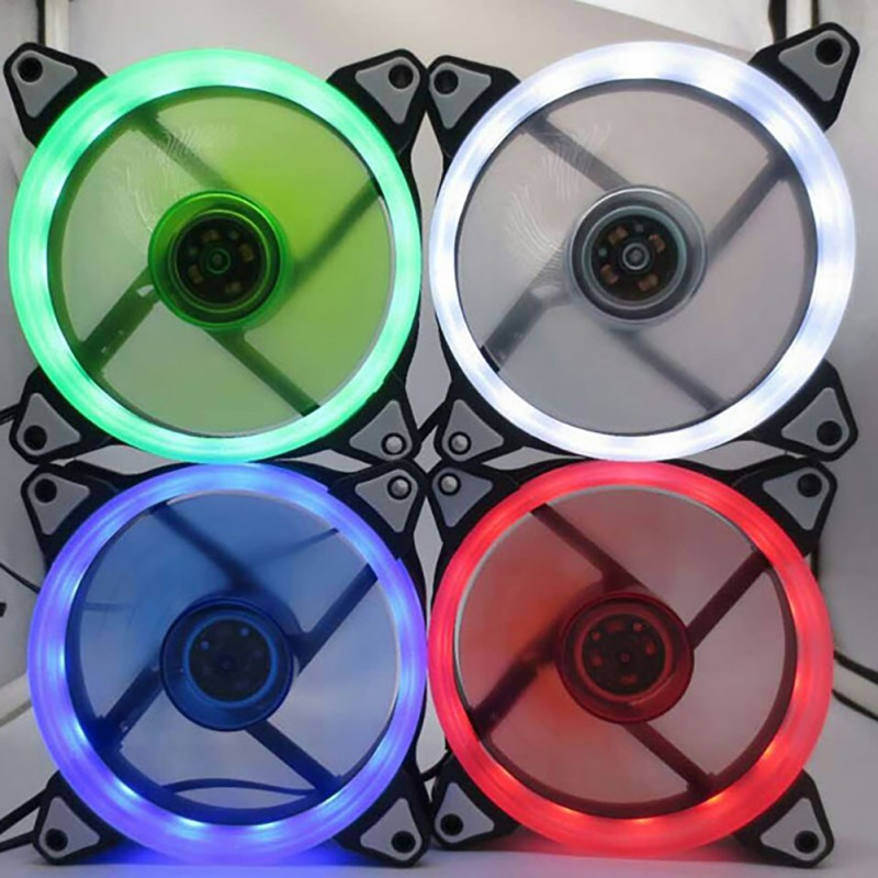 15 LED Ultra <font><b>Silent</b></font> Cooler <font><b>fan</b></font> Computer PC Case Cooling <font><b>Fan</b></font> <font><b>120mm</b></font> <font><b>12V</b></font> With Rubber <font><b>Quiet</b></font> Molex Connector 3 / 4Pin plug <font><b>fans</b></font> image