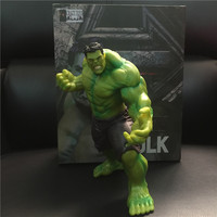 1 Piece 22cm The Avengers Superheros Vinyl Green Hulk Action Figures Toy New Arrival
