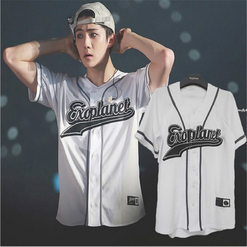 EXO Planet 3 EXOrDIUM T-shirt In Seoul KPOP Unisex BUTTON DOWN Tshirt  Baekhyun 2019 Summer Tops Fashion Korean Fans Tees