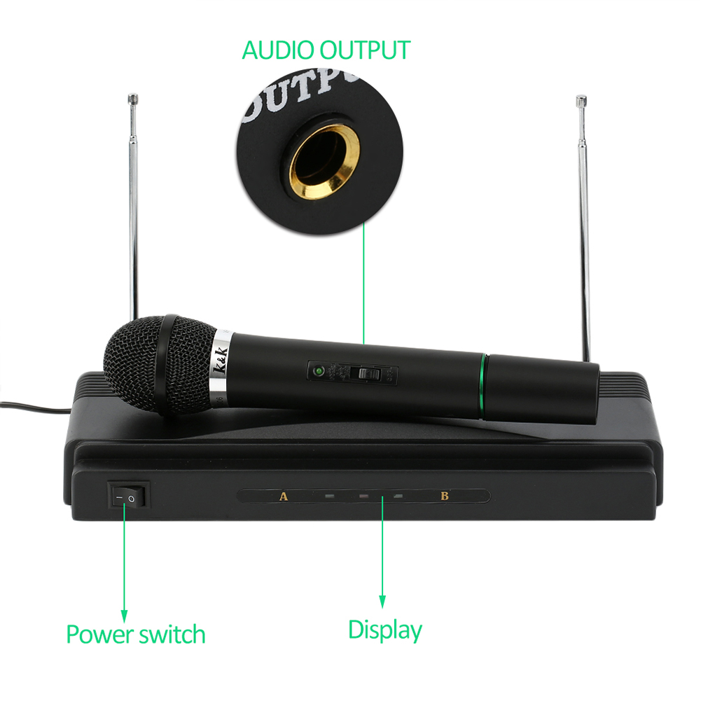 Dual Professional Wireless Microphone With Receiver For BM 800 Karaoke Microphone Party KTV Studio ND998