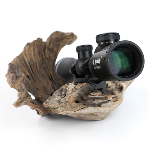 Image 4 - KANDAR KH 4 12x42 AOE Hunting Riflescope Red Illuminated Glass Etched Reticle Sniper Optic Rifle Scope Sight with Ring
