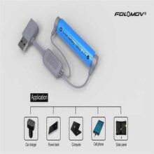Folomov A1 18650 Батарея Зарядное устройство для литий-ионных батарей Multi Функция Магнитная USB Зарядное устройство Мини зарядки с Мощность банк Функция