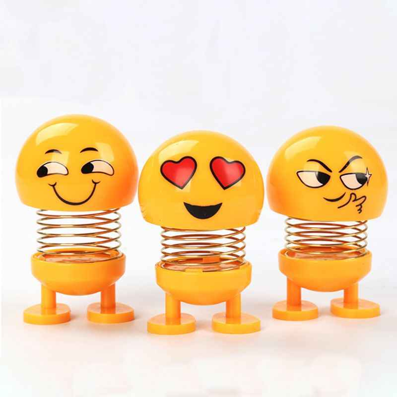 Car Spring Doll Shaking Head Dolls Ornaments Car Swing Expression Pack Children Toys