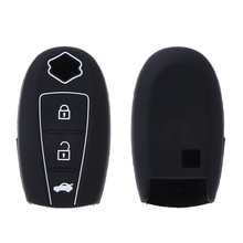 3 Buttons Silicone Car Remote Key Fob Cover Case Holder For Suzuki SX4 Kizashi