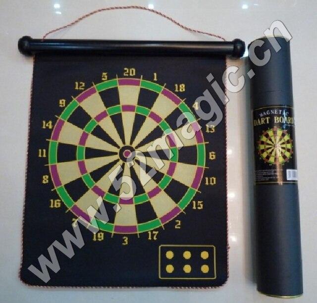 Magnetic Dart Board (Dart game) Magic Tricks Magician Close Up Stage Gimmick Props Illusion Comedy Card Prediction Magia