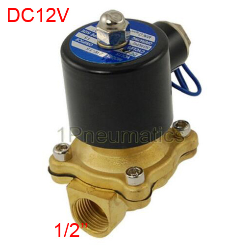 Free Shipping 16MM 2W160-15 N/C 2/2 Way 1/2 Gas Water Pneumatic Electric Solenoid Valve Water Air DC12V ALLOY 1 2 electric solenoid valve water air n c gas water air 2w160 15 dc12v 24v ac110v 220v