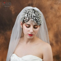 Bride head accessories Luxury crystal flower crown hair accessories for women best selling 2018 products women Hair Claws