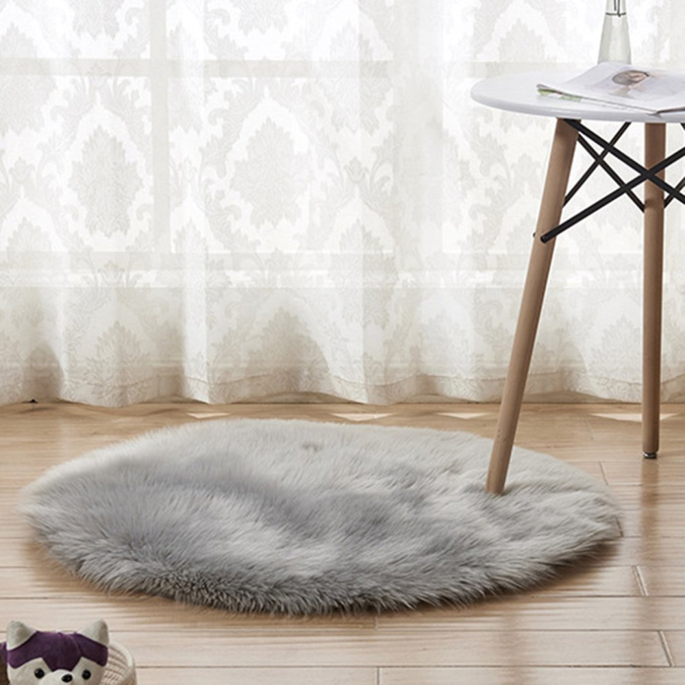 Batteries Clever Plush Round Shape Carpet Throw Rug Anti-skid Shaggy Area Rug Soft Floor Mat House Living Room Bedroom Carpet Floor Rug