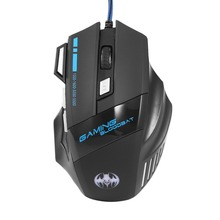 Gaming Mouse LED Optical USB Wired Computer Mice 5500 DPI 7 Buttons For Pro Gamer Wholesale Drop Shipping 5500 dpi adjustable 7 buttons running river pattern optical usb wired woven nylon line pro gamer gaming mouse mice with breathin
