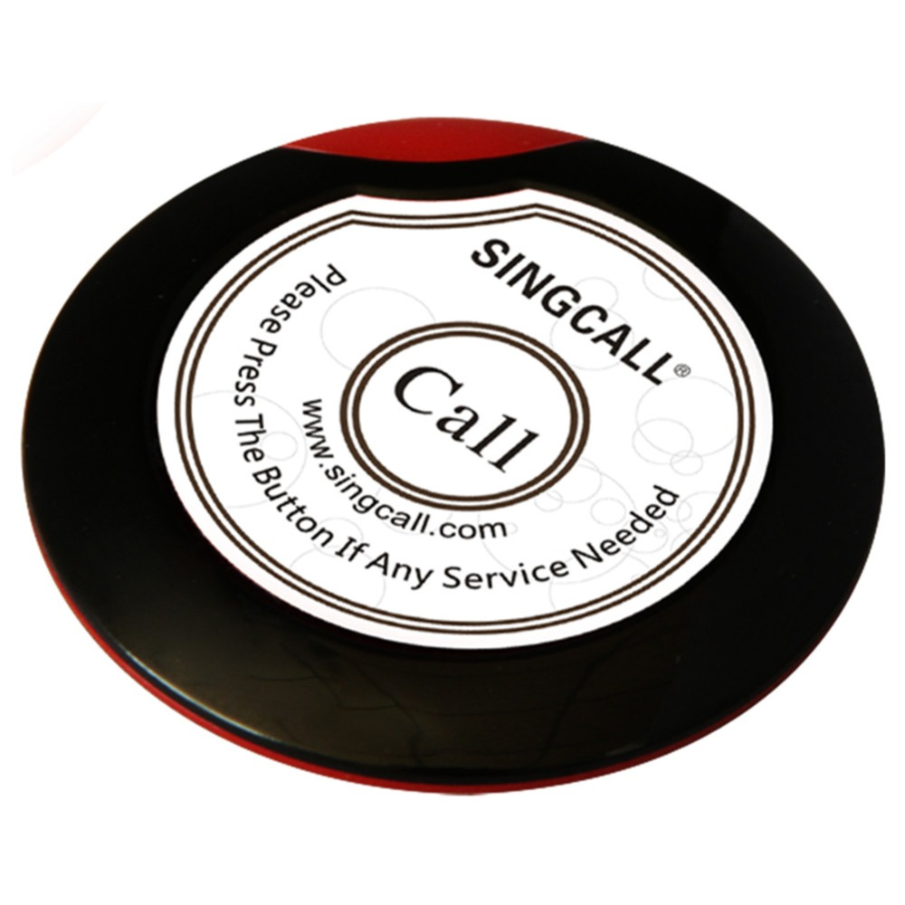 SINGCALL Wireless service calling button,ultrathin single call button for coffee or tea house,restaurant