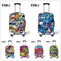 FORUDESIGNS Elastic Travel Accessories For 18-30inch Suitcase Funny Graffiti Waterproof Luggage Protective Cover Suitcase Cover