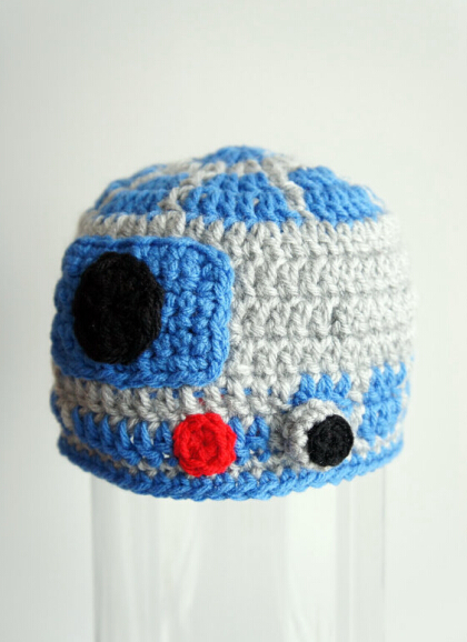 Crochet Knitted Hat R2d2 Star Wars Hat Cartoon Character Infant