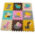 9 Peças Trevo Da Sorte Mat Puzzle de Espuma Bebê Engatinhando Tapete Pad tapete de Jogo de Espuma Eva Piso Tatame Infantil Rastejando Tapetes de Jogo Tapete