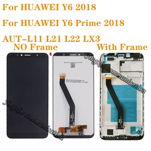 "5.7"" new display for Huawei Y6 Prime 2018 ATU-L11 L21 LCD + touch screen digitizer accessories for Y6 2018 lcd with frame 100% original new ltm170e8 l31 original new full view screen ltm170eu l21 l11"