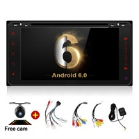 Car DVD 2 Din GPS Universal Android 6 0 Quad Core 16GB With Microphone GPS Navigation