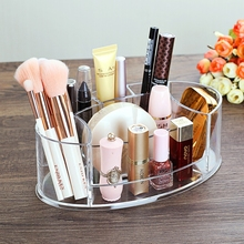 Simplified Transparent Cosmetic Storage Box, Makeup Brush Organizer, Acrylic Container for Lipstick, Nail Polish, Powder Cake