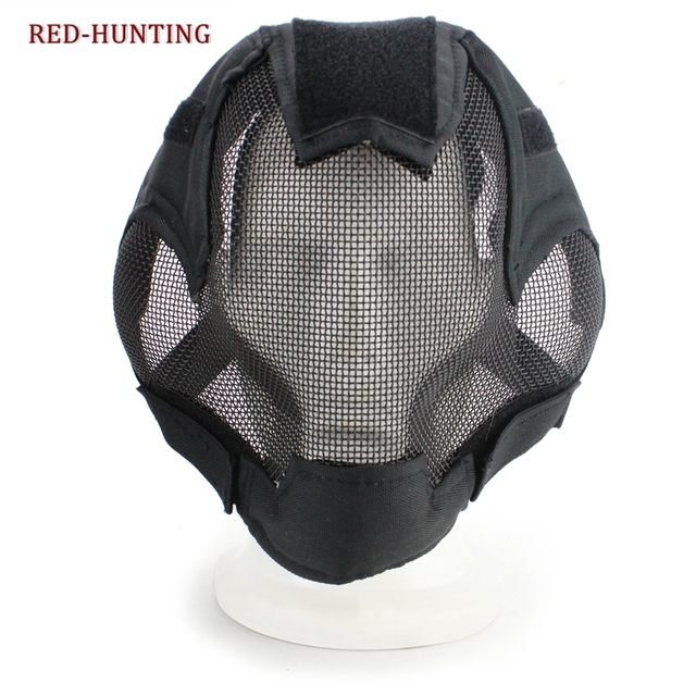 US $12 98 45% OFF|Aliexpress com : Buy Military Airsoft Paintball Masks  Tactical Steel Mesh Full Face Mask for Army Outdoor Paintball Accessories  from