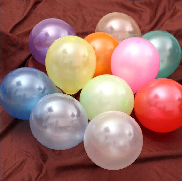 100pcs 1.5g Birthday Balloons 10inch Latex Helium balloon Thickening Pearl Weddi