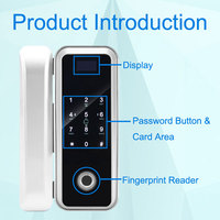 Eseye Glass Door Lock Wood Doors Smart Lock Fingerprint Door Lock RFID IC Card Password Remote Control Intelligent Locks