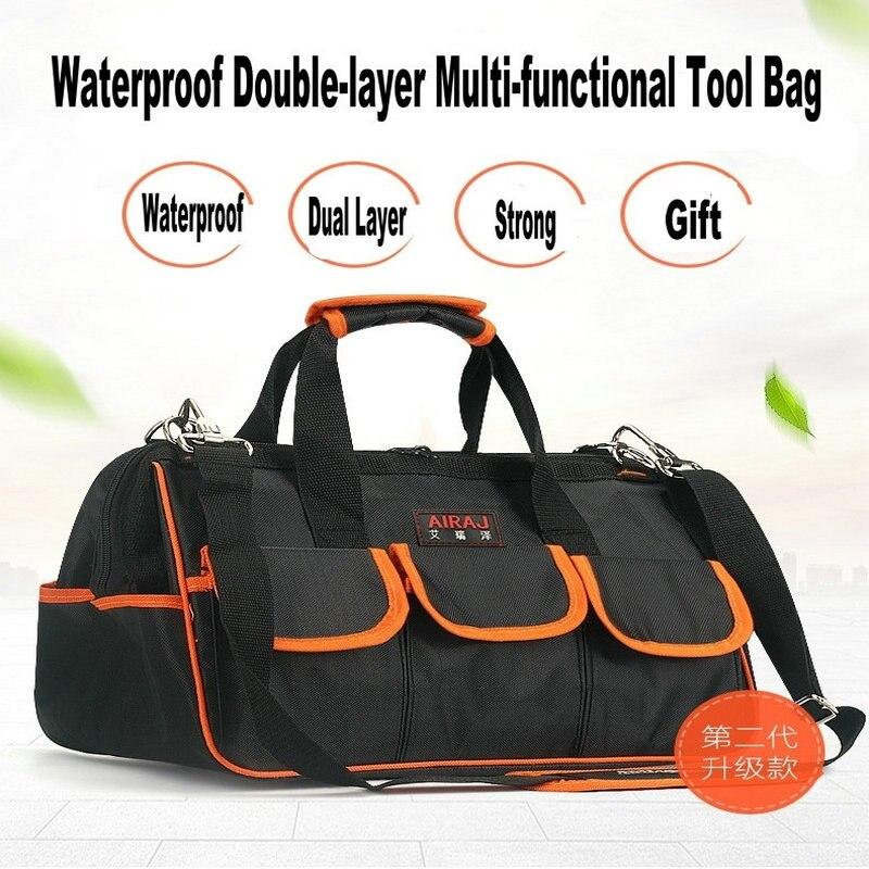 Imperméable à l'eau double couche sacs de voyage Wereable hommes sac à bandoulière sacs à outils grande capacité sac pour outils matériel livraison gratuite