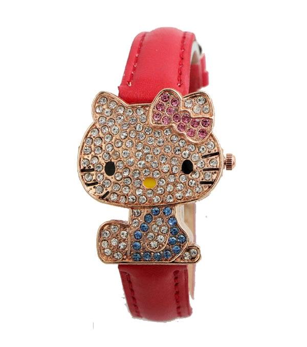 Yeni Gelmesi Güzel Hello Kitty İzle Çocuklar Kız Kadınlar Elbise - Çocuk Saatler - Fotoğraf 3