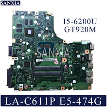 KEFU LA-C611P Laptop motherboard for Acer Aspire E5-474G Test original mainboard I5-6200U GT920M