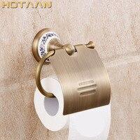 Envío Gratis  soporte de papel higiénico de latón envejecido con acabado de latón macizo  accesorios de baño  soporte de papel higiénico YT-11592