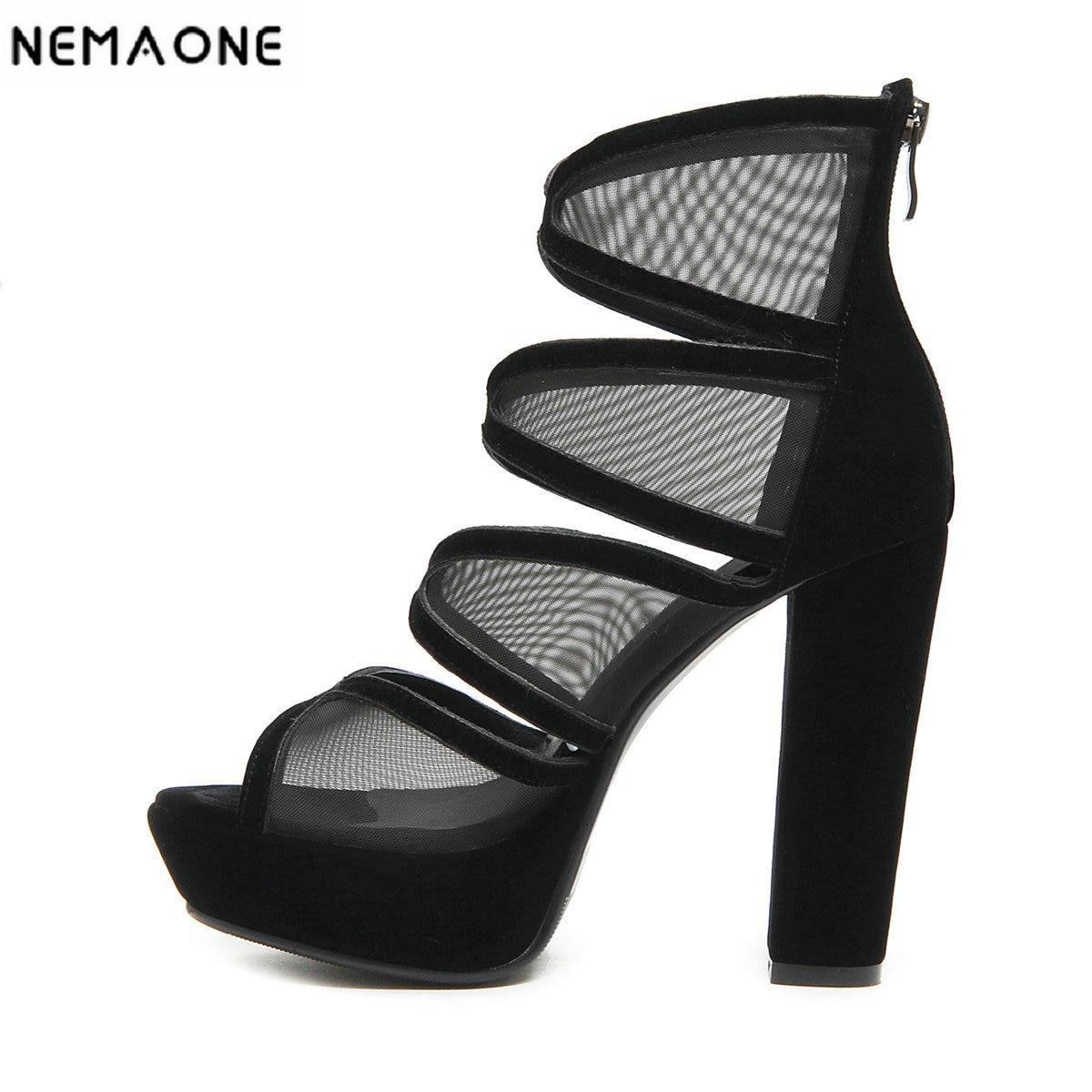 a8c528574748dd 12 Femmes Danse Talons Pôle D'été Nemaone De Des Chaussures 2019 Soirée  forme Cm Noir Sandales ...