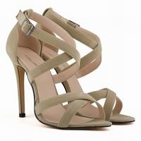 New Fashion Women Shoes Sandals Faux Velvet Open Toe Ankle Straps High Heels Summer BRIDAL PATENT