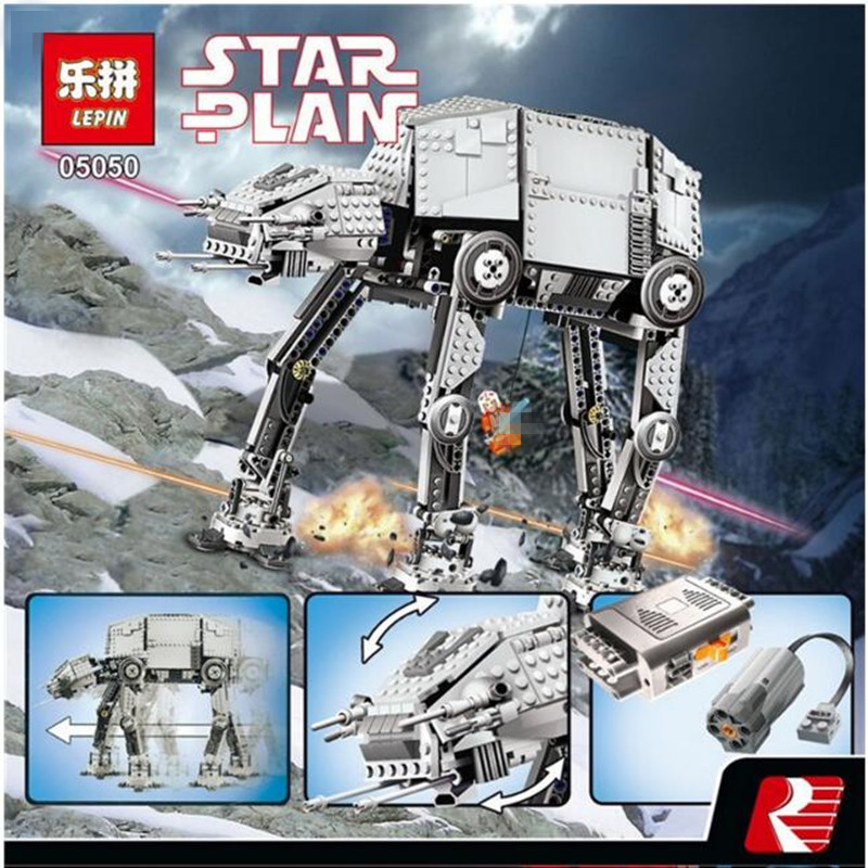 NEW 1167pcs Lepin 05050 Star Series AT- the AT Robot Electric remote control toys models & building toy Compatible with 10178 конструктор lepin star plan бронированный шагоход at at 1137 дет 05050