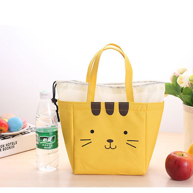 Pvc Aluminum Foil Cartoon Cute Hand Holding Thick Insulation Lunch Box Cooler Bag Ice Pack Storage Package In Bags From Luggage On