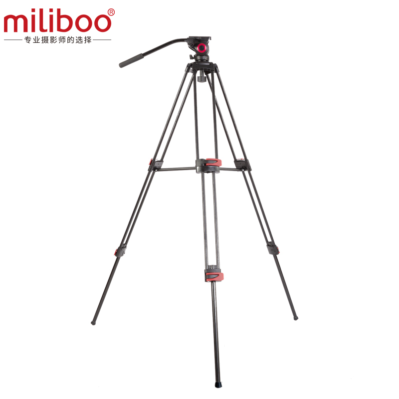 """Image 5 - miliboo MTT602A Professional Portable Aluminum Fluid Head Camera Tripod for Camcorder/DSLR Stand Video Tripod 76 """" Max Height-in Tripods from Consumer Electronics"""