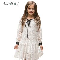 Girls Dresses Lace 2016 Spring Children S Clothes Kids Dresses Long Sleeved Princess Style Holiday Party